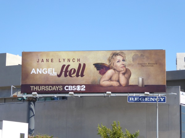 Angel from Hell series premiere billboard