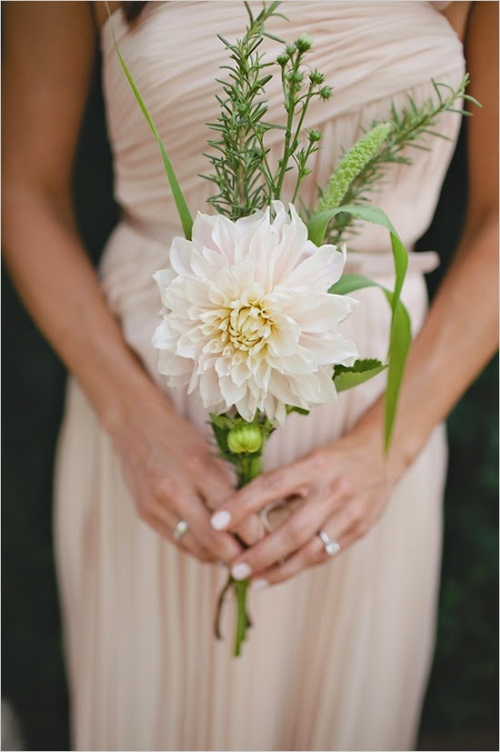 single stem bridal bouquet