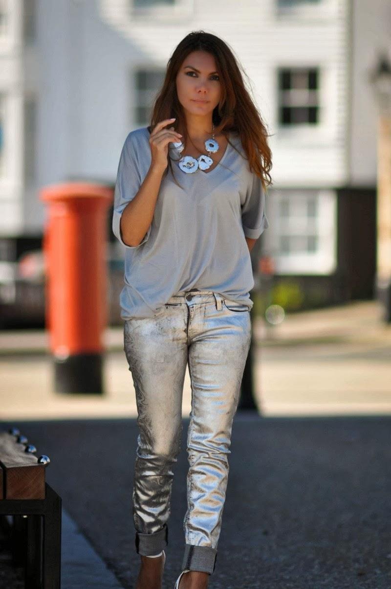 Silver Top Jeans - Jon Jean