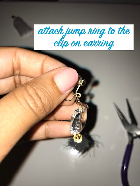 DIY Gem Tassel Earrings Steps