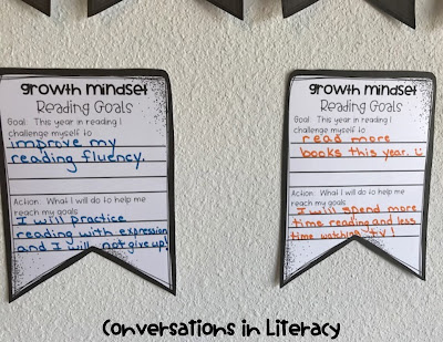 Fostering Growth Mindset in Readers by setting reading goals freebie