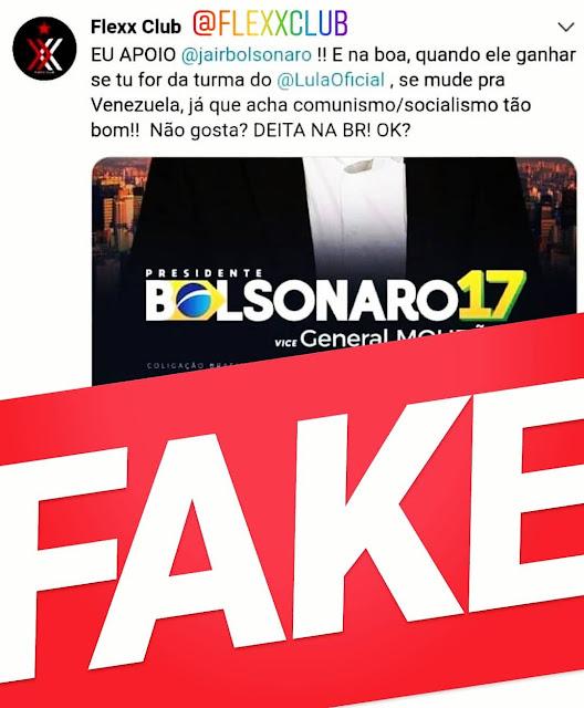 Casa noturna gay tem conta invadida com postagem pró-Bolsonaro; empresário nega qualquer apoio e é apoiador do #EleNão