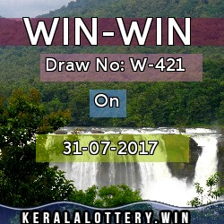 WIN-WIN LOTTERY NO. W-421st DRAW held on 31/07/2017