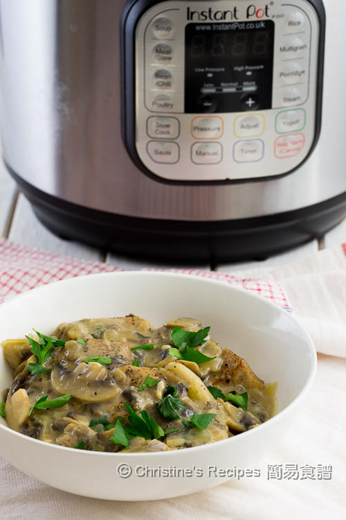 忌廉蘑菇豬扒 Pork Chops with Creamy Mushroom Sauce Instant Pot 01