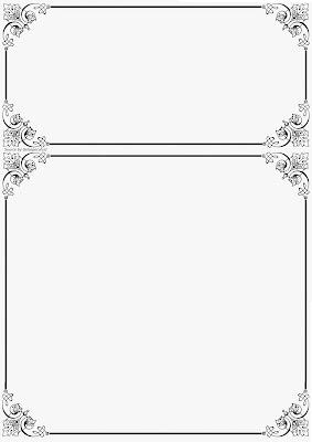 border undangan hitam putih