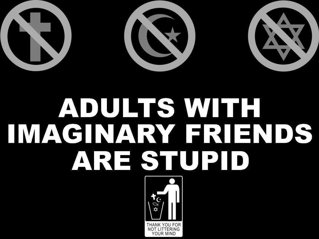 Stupid Adults With Imaginary Friends Joke Picture