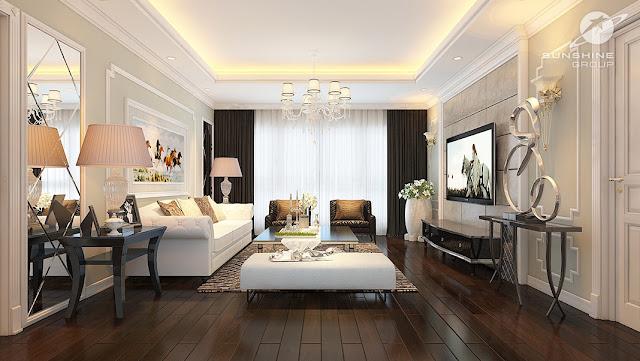 Thiết kế nội thất sunshine center Phạm Hùng