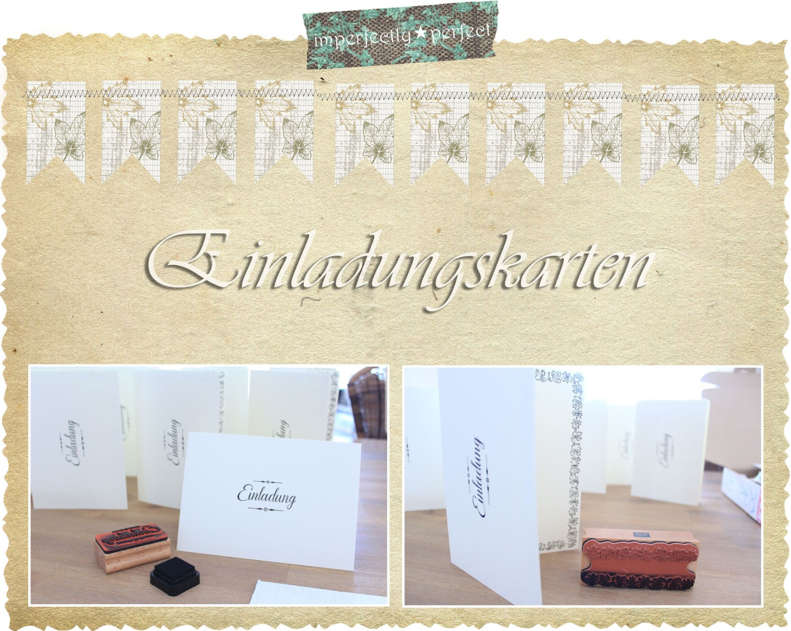 Diy Einladungskarten Imperfectlyperfect Diy Einladungskarten