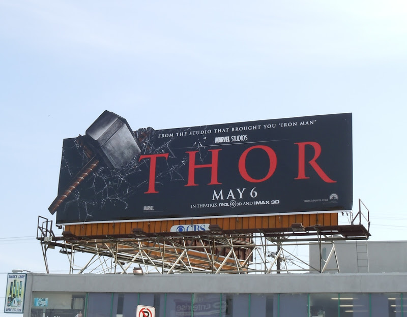 Thor hammer movie billboard
