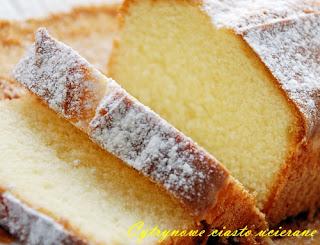Cytrynowe ciasto ucierane