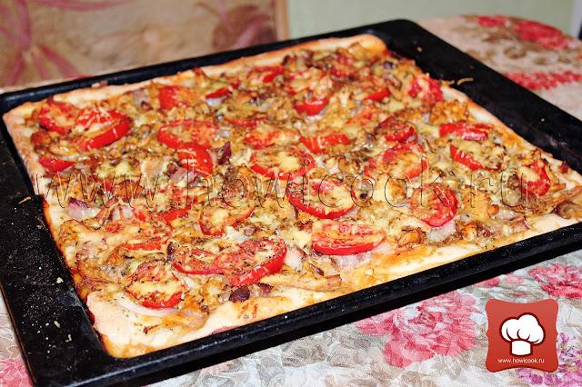 рецепт вкусной и сытной пиццы