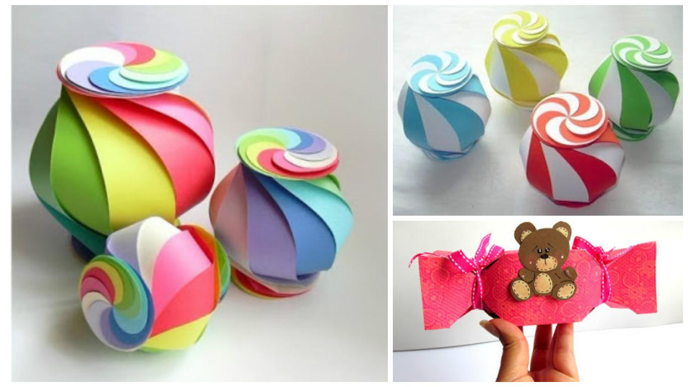 C mo hacer una cajita de regalo colorida haz manualidades - Como hacer cajitas de cartulina ...