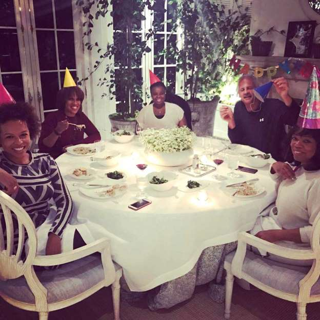 Oprah Winfrey Celebrates Her Birthday with Pasta, Fries and Cake