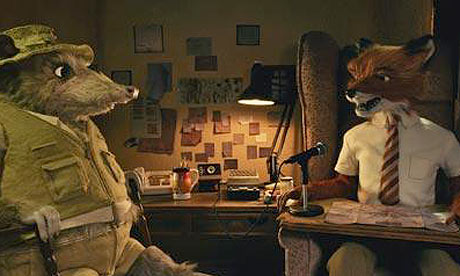Mr. Fox and the Rat in Fantastic Mr. Fox animatedfilmreviews.filminspector.com