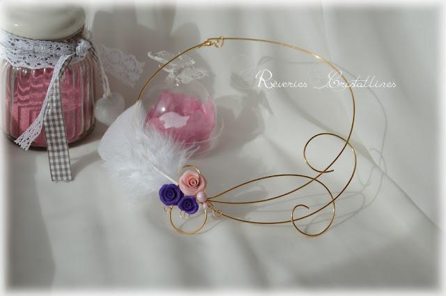 bijou moderne mariage avec plume