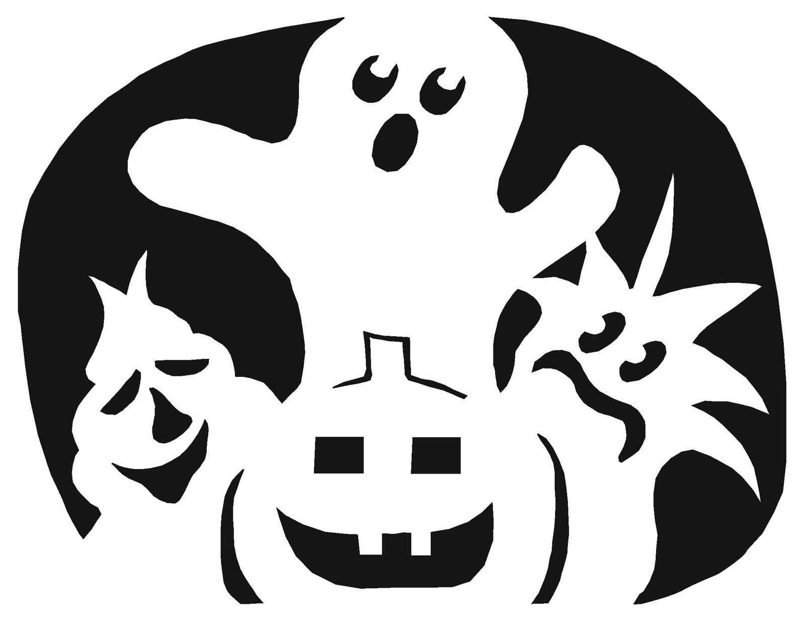 small halloween pumpkin templates - pumpkin carving templates