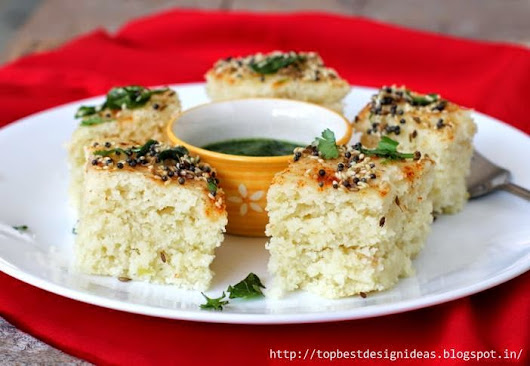 Rice Dhokla Recipe with Spicy Green Chutney ~ Top Best Design Ideas