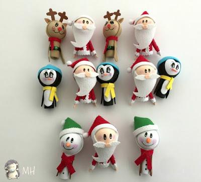 Fofulápices navideños.