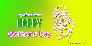 happy mothers day greetings paper cut out style mother holding a baby