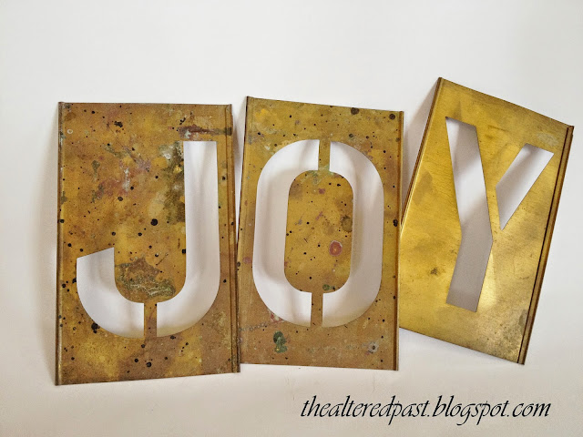 brass stencils, joy, spain hill farm blog