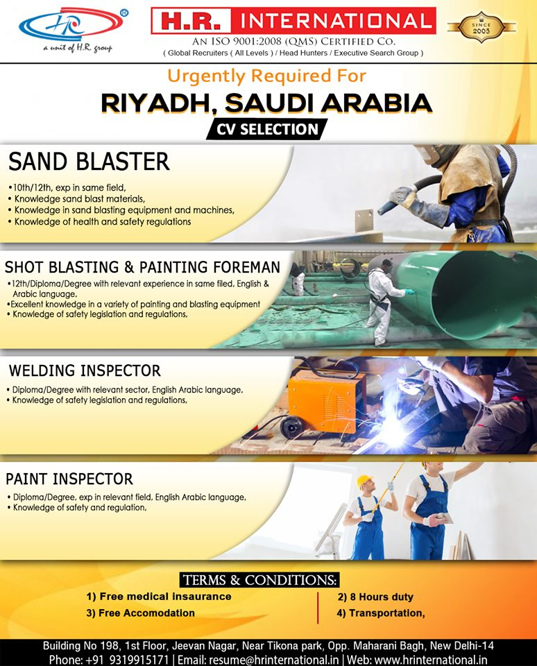 Urgently CV Selection for Riyadh Saudi Arabia