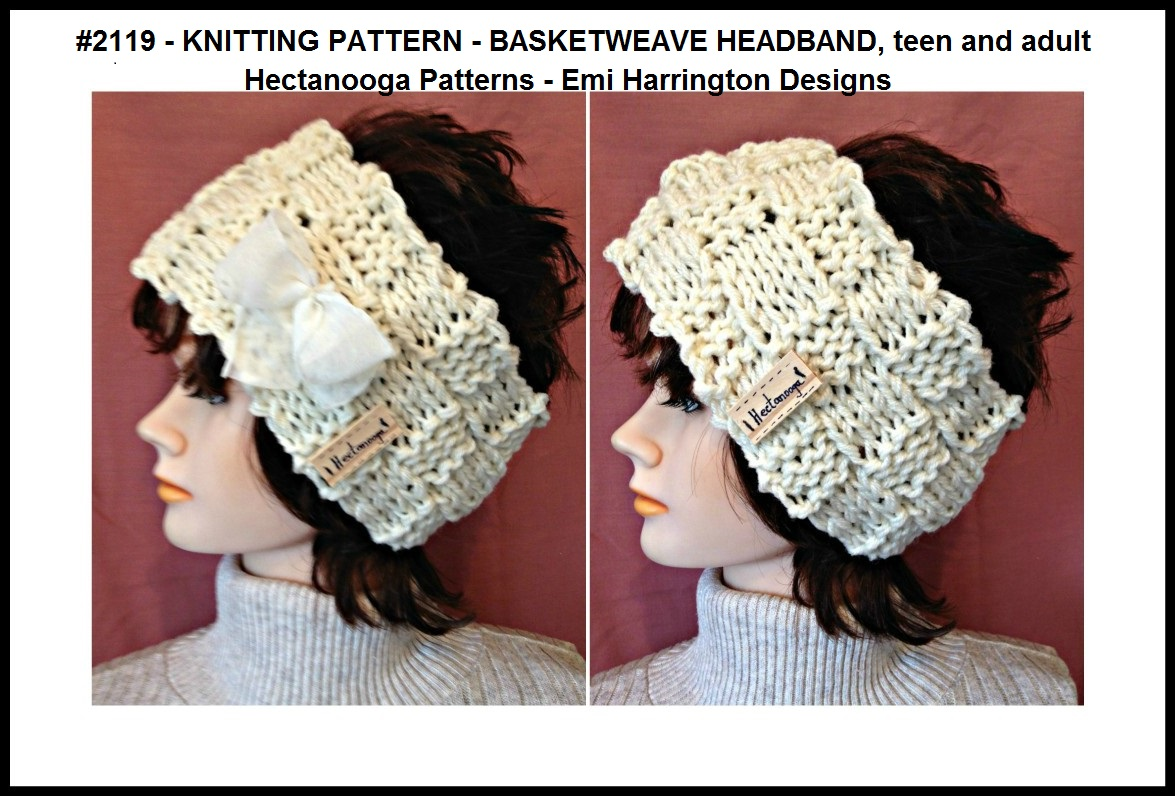 HECTANOOGA PATTERNS: #2119 - FREE KNITTING PATTERN - BASKETWEAVE ...