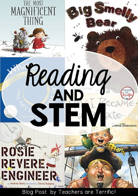 Reading and STEM go together like peanut butter and jelly! Check this post for five books and five ideas you can do today!