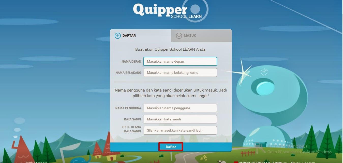 Cara daftar quipper school
