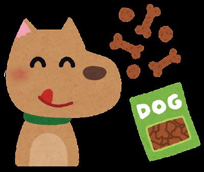 犬とおやつのイラスト