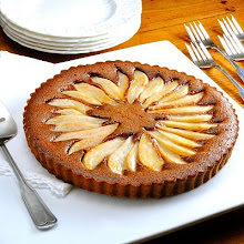 Martha's Chocolate Pear Tart