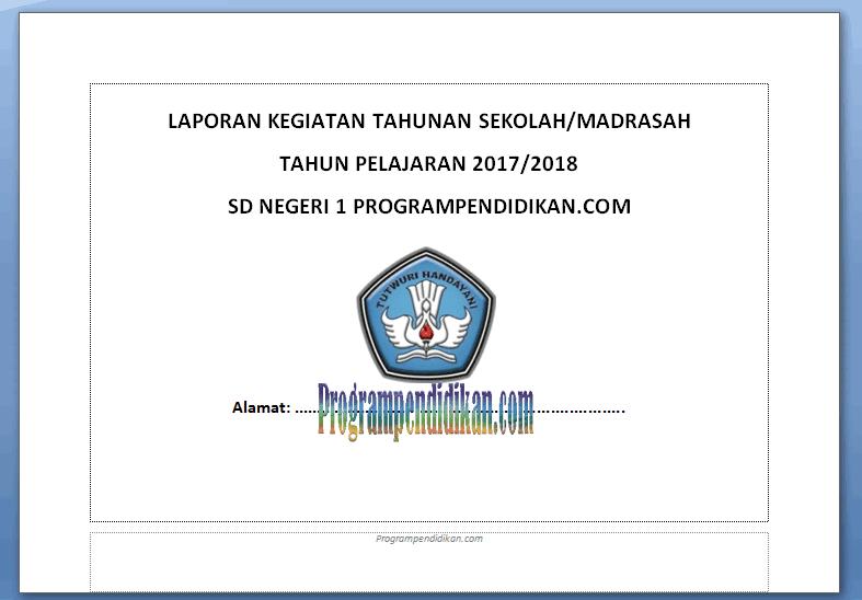 laporan kegiatan tahunan sekolah