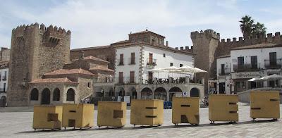 Plaza Mayor; Cáceres; Extremadura; Vía de la Plata
