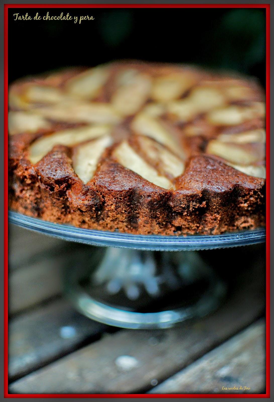 tarta de chocolate y pera tererecetas 03
