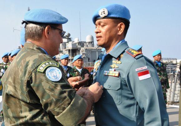 Peghargaan PBB untuk Prajurit KRI Sultan Hasanuddin dalam Misi UNIFIL