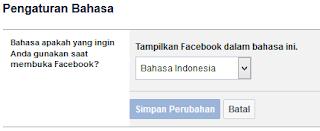 Merubah Bahasa FB