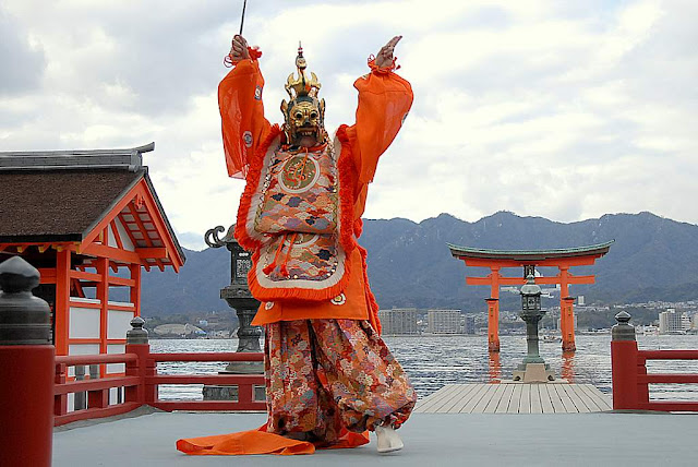 Bugaku (ancient court music & dance), Miyajima, Hiroshima