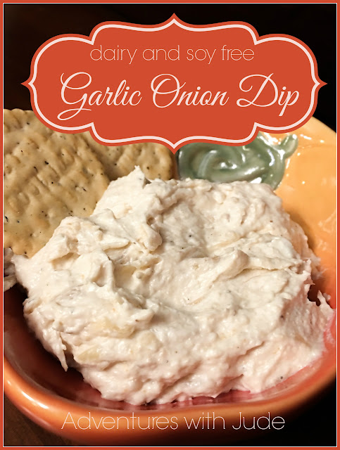 Dairy free Soy free Vegan Garlic Onion Dip using Daiya Cream Cheese Spread