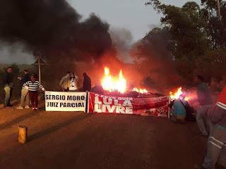 Manifestantes voltam a bloquear acessos ao município de Candiota