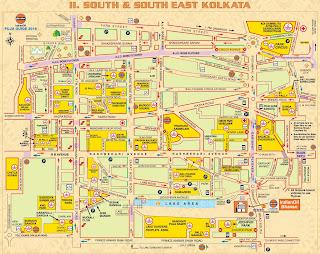 South and South East Kolkata Map