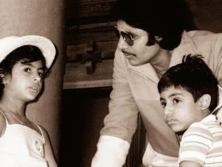 Abhishek with his father & sister