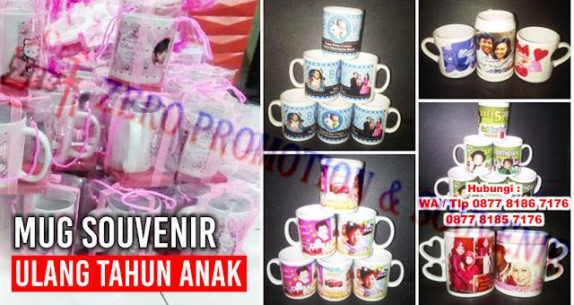 Souvenir mug ulang tahun, mug ulang tahun, mug ultah anak