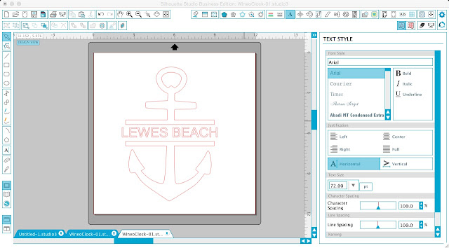 Silhouette Studio tutorial, split design, anchor image