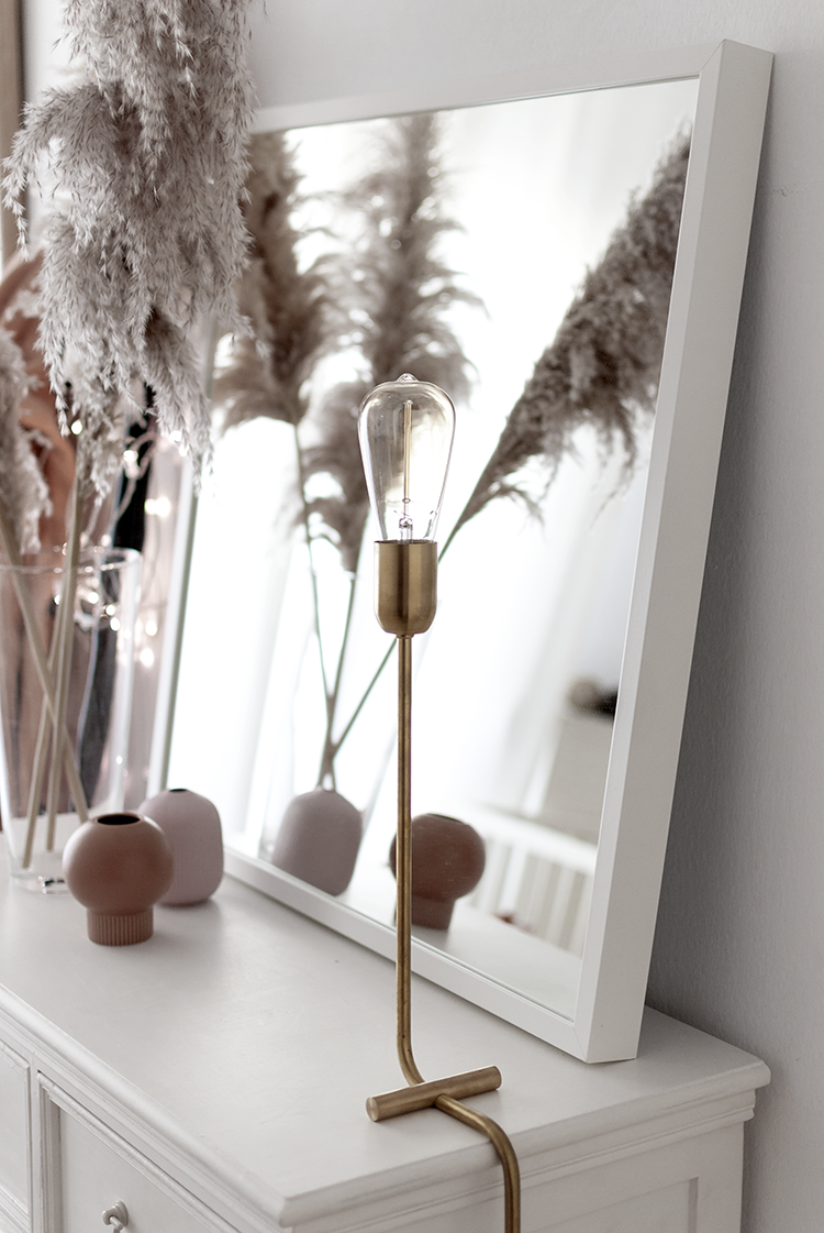 Solid brass Modern table lamp by Balance Lamp. Styling and photography Eleni Psyllaki My Paradissi