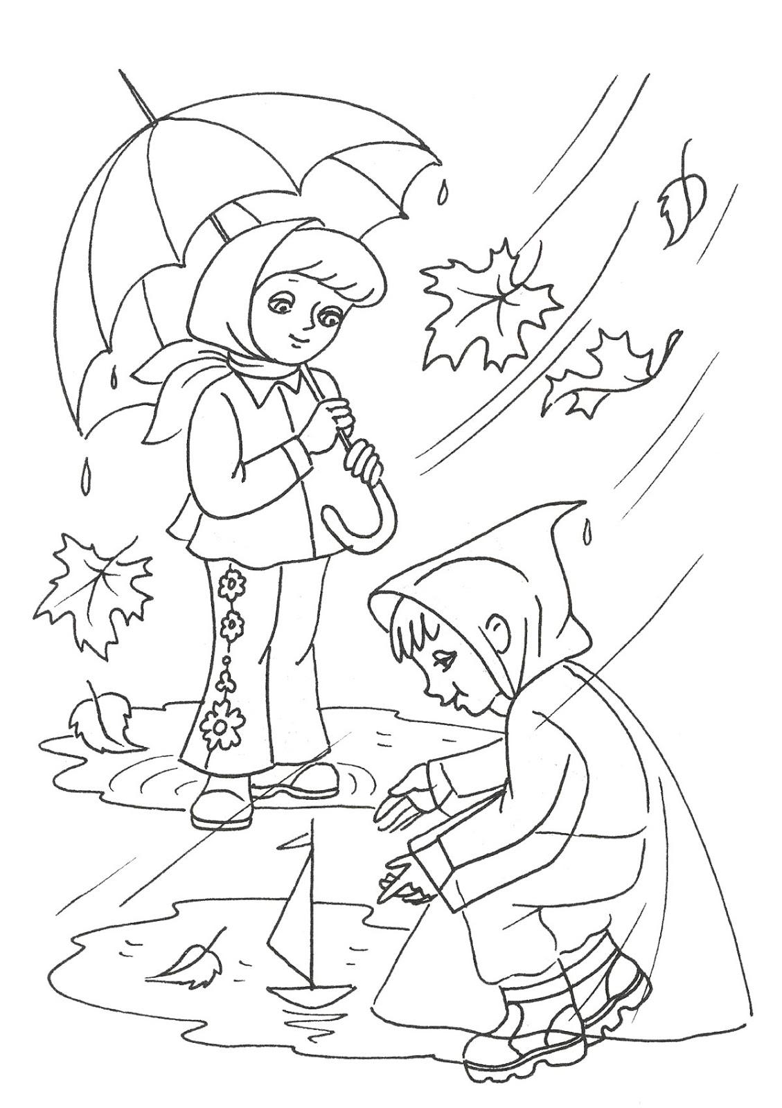 Развивающие занятия для детей дома!: Раскраски на тему Осень