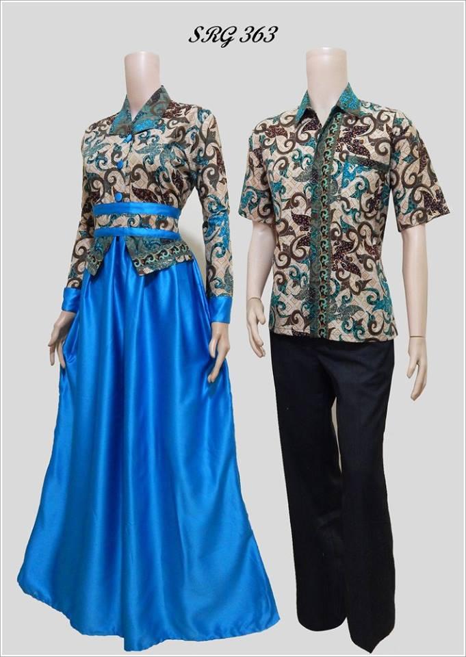 Jual Beli Baju Batik Couple Sarimbit Gamis Srg 456 Baru Baju Gamis