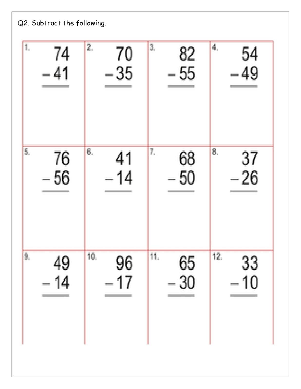 Birla World School Oman Homework For Grade 2 As On 18 01