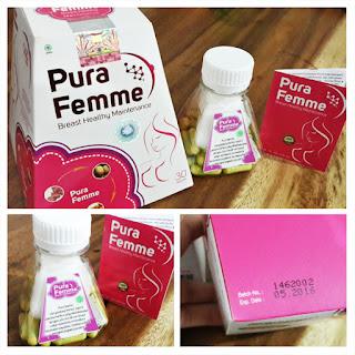 Jual Produk Suplemen Herbal Pembesar dan Pengencang Payudara  Pura Femme Original Terjamin Aman BPOM dengan Harga Termurah.