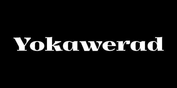 Free Bold Serif Font - Yokawerad Bold