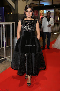 Niveda Thomas Black Sleeveless Cute Dress at 64th Jio Filmfare Awards South 2017 ~  Exclusive 069.JPG