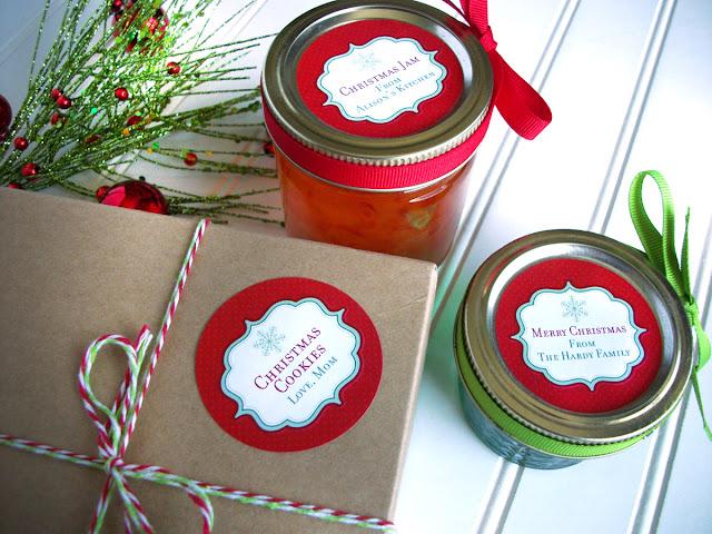 custom christmas canning jar label